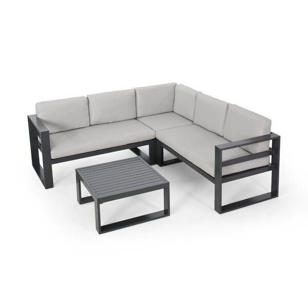 Pearlman Outdoor Sectional Seating Group with Cushions by Orren Ellis