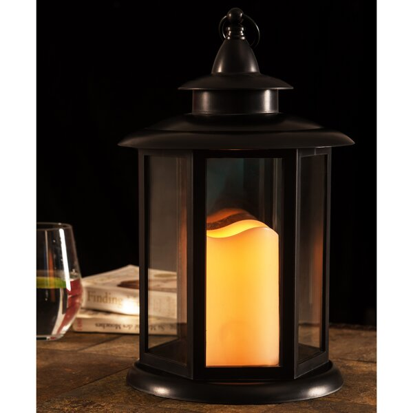LED Light Battery Operated Plastic Lantern by Charlton Home