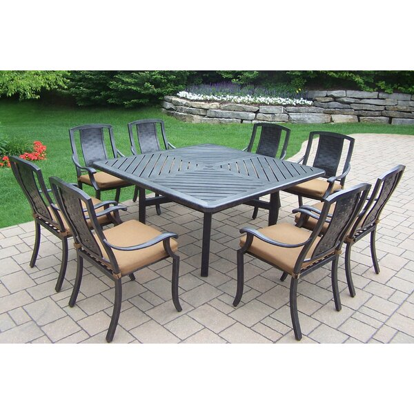 Zulema 9 Piece Dining Set with Cushions by Charlton Home