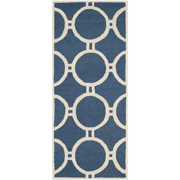 Martins Navy Blue/Ivory Area Rug by Wrought Studio