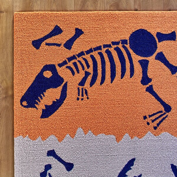 Dig it Orange & Blue Rug by Birch Lane Kids™