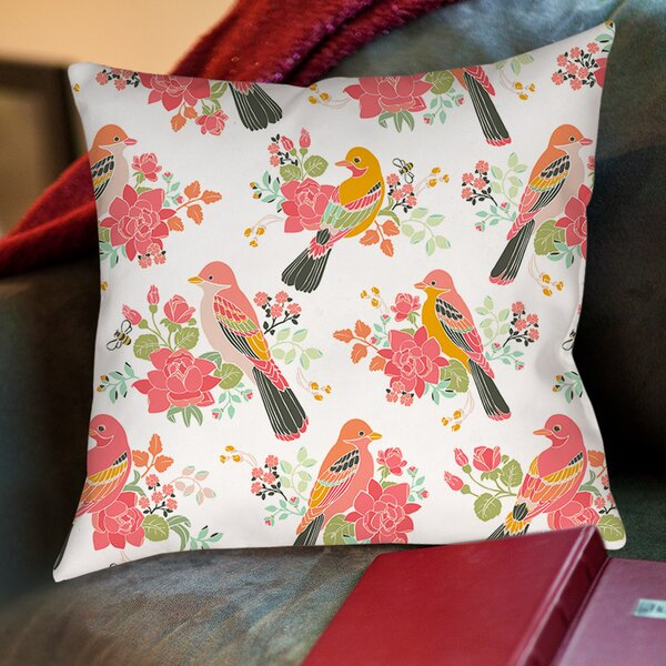 Littlest Bird Printed Throw Pillow by Manual Woodworkers & Weavers