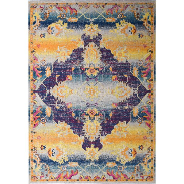 Julianna Gold/Blue Indoor/Outdoor Area Rug by Bungalow Rose