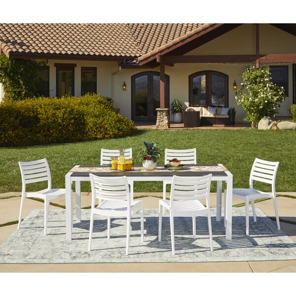 Benninger 7 Piece Indoor/Outdoor Dining Set by Ivy Bronx