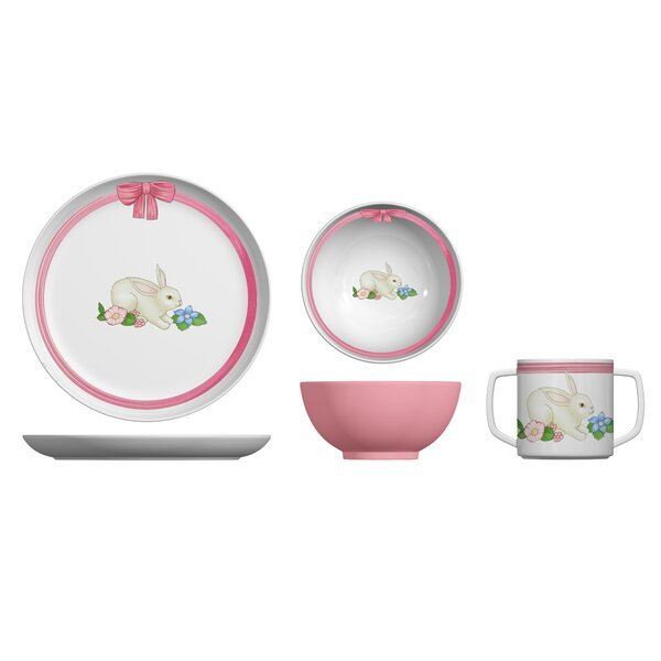 Portmeirion Botanic Garden Terrace Melamine Bunny 3 Piece Place Setting by Portmeirion