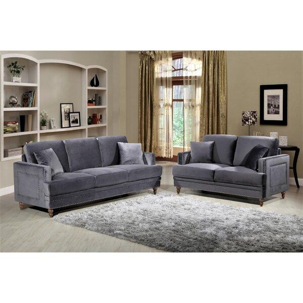 Aadi 2 Piece Living Room Set (Set of 2) by Mercer41