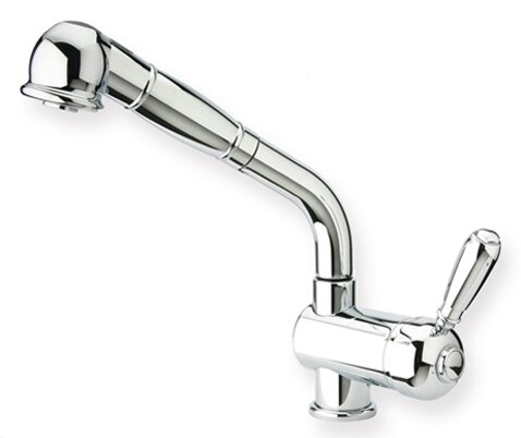 Metrohaus Pull Out Single Handle Kitchen Faucet by Whitehaus Collection