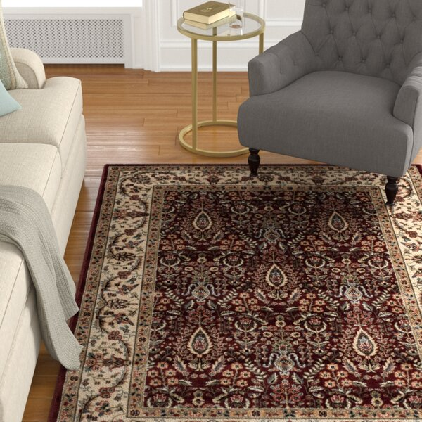 Bayhills Brown/Burgundy Area Rug by Astoria Grand