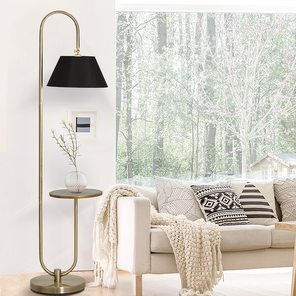 Lafever 73 Arched Floor Lamp by Everly Quinn
