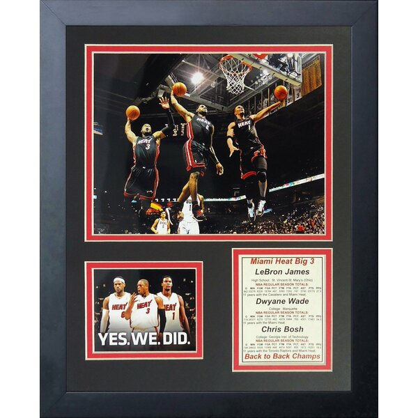 Miami Heat Big Three - Dunk Framed Memorabilia by Legends Never Die