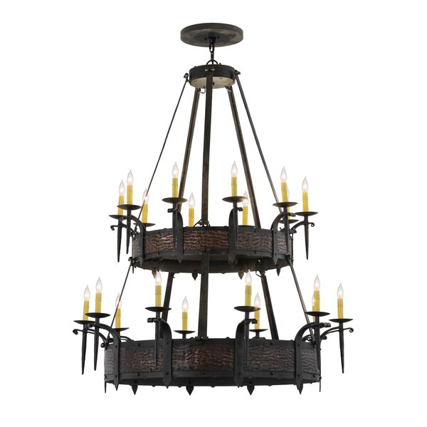 Haffner 24 - Light Candle Style Chandelier By Williston Forge