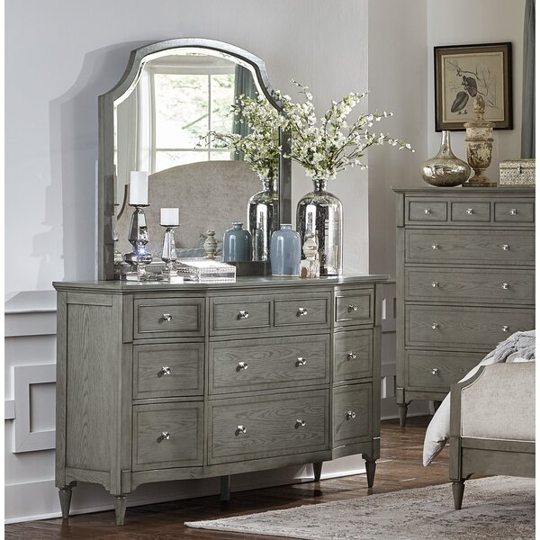 Sizemore 9 Drawer Dresser with Mirror by One Allium Way