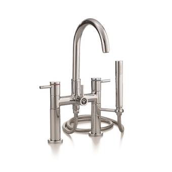 Dawn D03 2503C 4-Hole Tub Filler with Personal Handshower and Cross Handles