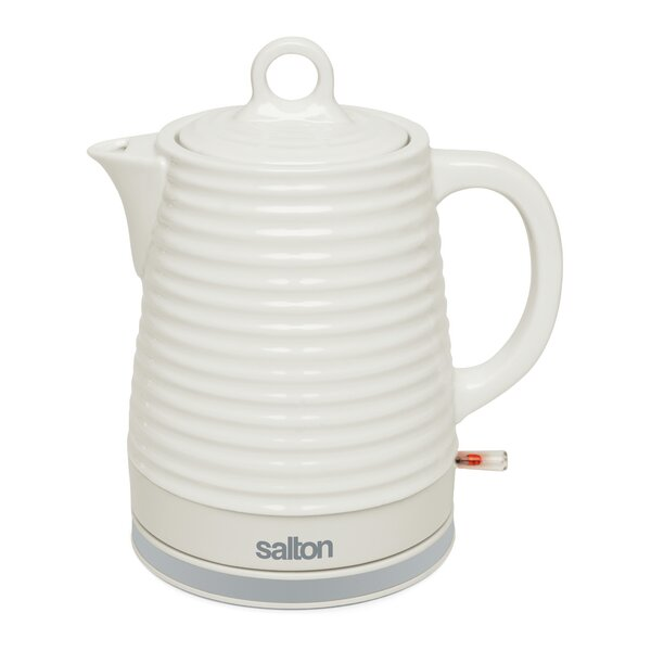 1.2 Qt. Stainless Steel Cordless Electric Tea Kettle by Salton