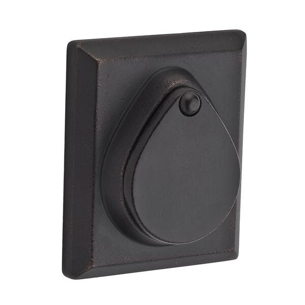 Rustic Square Single Cylinder Deadbolt with Smartkey by Baldwin