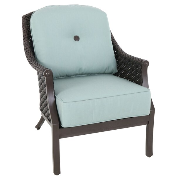 Kanzler Patio Chair with Cushions (Set of 2) by Red Barrel Studio Red Barrel Studio