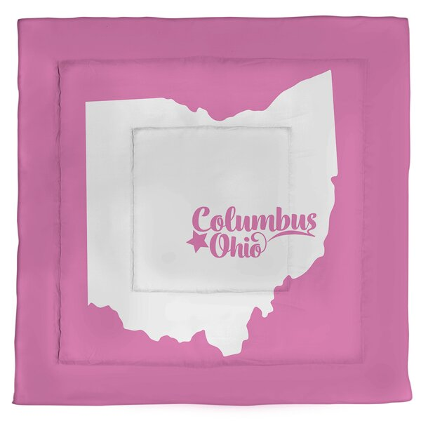 Ohio Columbus Single Reversible Comforter