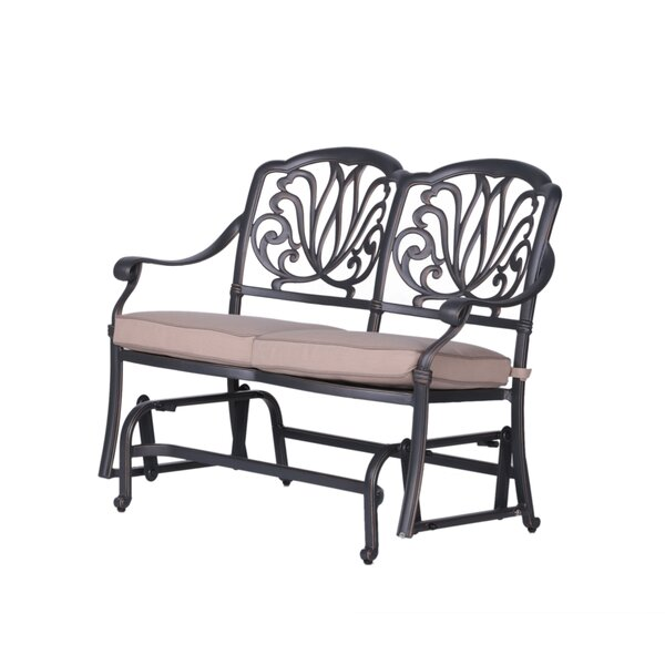 Quintin Glider Bench With Cushions By Fleur De Lis Living Fresh
