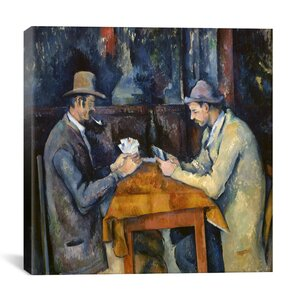 The Card Players, 1893-96 Canvas Wall Art by Paul Cezanne by iCanvas