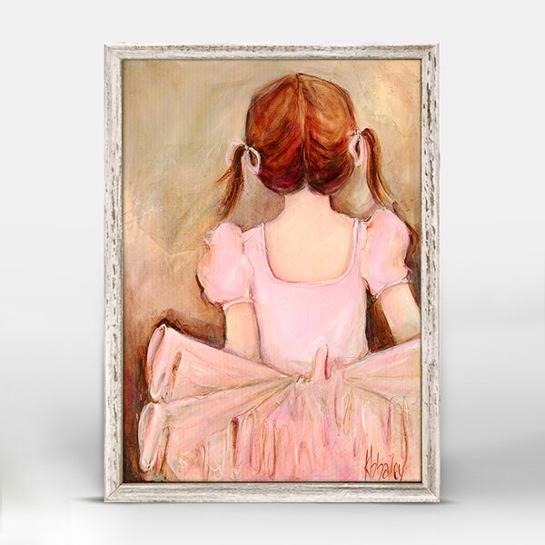 Deven Sweet Ballerina Framed Canvas Art by Harriet Bee
