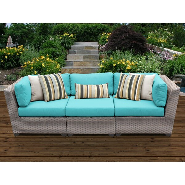 Romford Patio Sofa with Cushions by Sol 72 Outdoor Sol 72 Outdoor