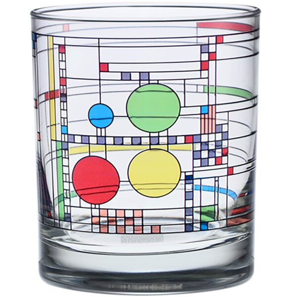 Coonley Playhouse 14 oz. Glass Cocktail Glass (Set of 4) by Frank Lloyd Wright