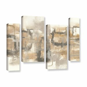 Platinum Neutrals II 4 Piece Painting Print on Wrapped Canvas Set by Latitude Run