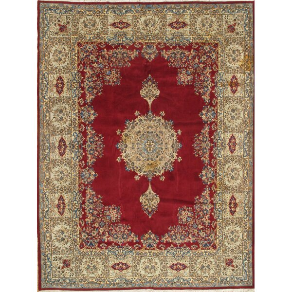 One-of-a-Kind Hadria Hand-Knotted Red 9'4 x 12'8 Area Rug