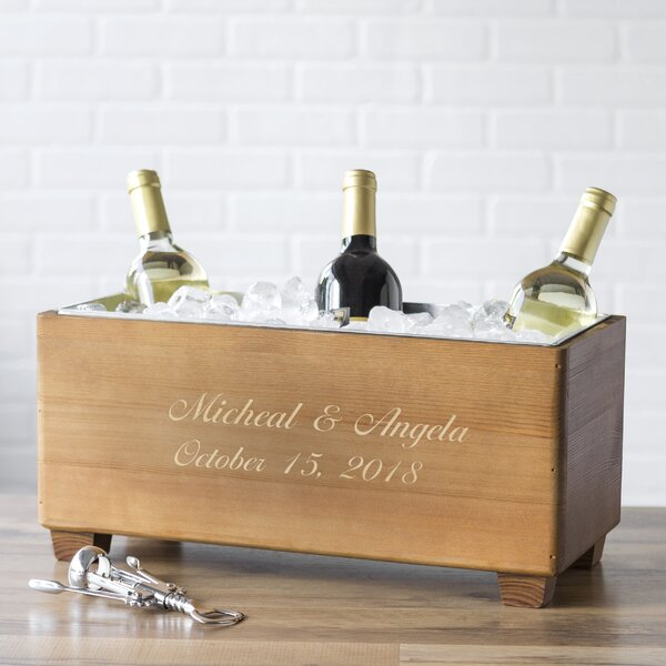 Personalized Wedding Wooden Wine Trough Beverage Tub by Cathys Concepts
