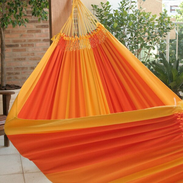 Double Person Fair Trade Portable Summertime Swing Hand-Woven Brazilian Cotton Indoor And Outdoor Hammock by Novica