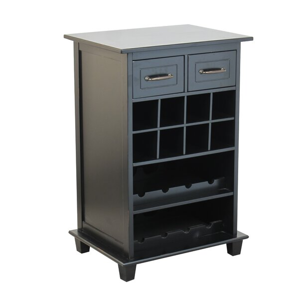 8 Bottle Floor Wine Cabinet by Homestyle Collection