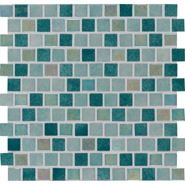 Caribbean Jade 1 x 1 Glass Mosaic Tile in Green by MSI