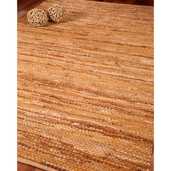 Turnage Leather Hand Woven Area Rug by August Grove