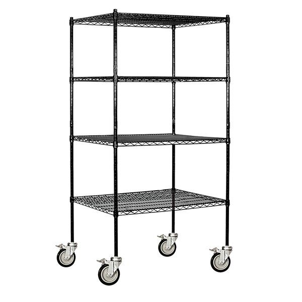 Wire 4 Shelf Shelving Unit Mobile by Salsbury Industries