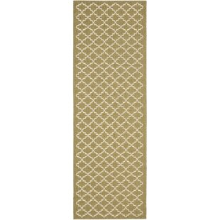 Bexton Green / Beige Outdoor Rug By Alcott Hill