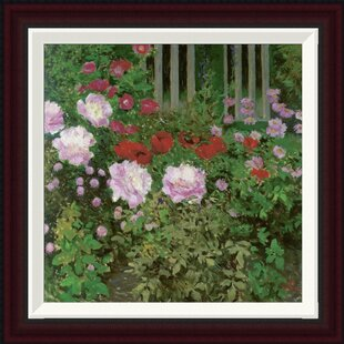 flowers and garden fence by koloman moser framed painting print - Vegetable Garden Fence