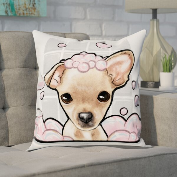 Faria Bubbly Personality Chihuahua Throw Pillow by Brayden Studio