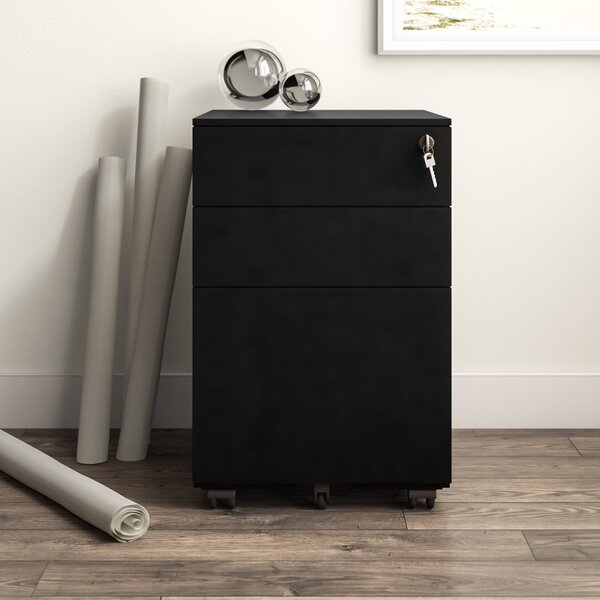 Office 3 Drawer Mobile File Cabinet