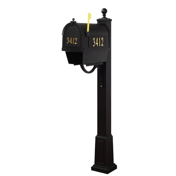 Berkshire Curbside Mailbox with Springfield Post Included with Base by Special Lite Products