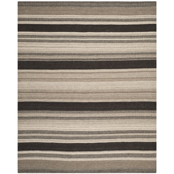 Dhurries Brown/Ivory Area Rug by Safavieh