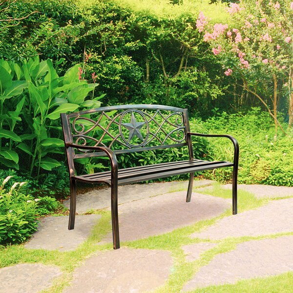 Lau Durable Steel Park Bench by Canora Grey