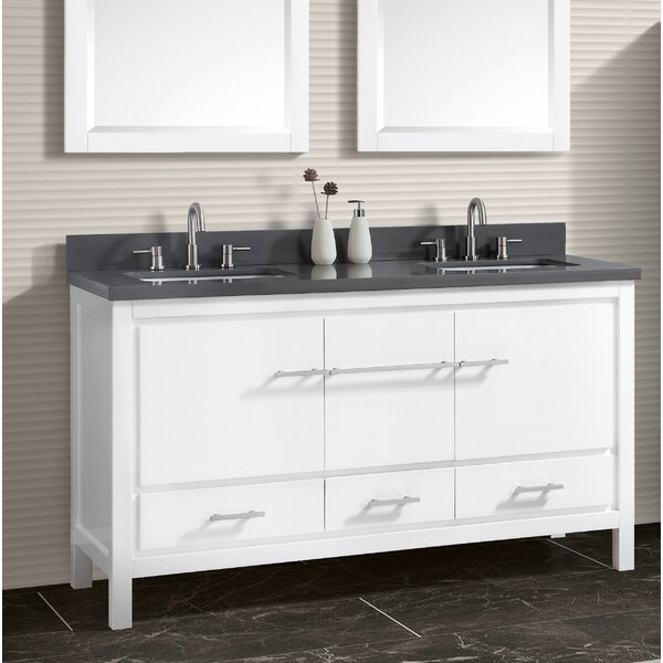 Liverman 61 Double Bathroom Vanity Set by Latitude Run