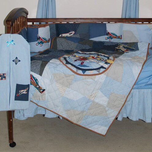 Airplane Crib Quilt by Patch Magic