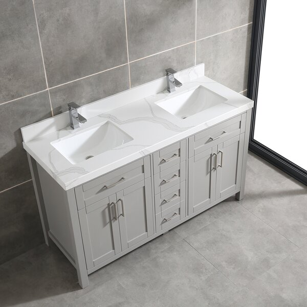 Masten 60 Double Bathroom Vanity Set