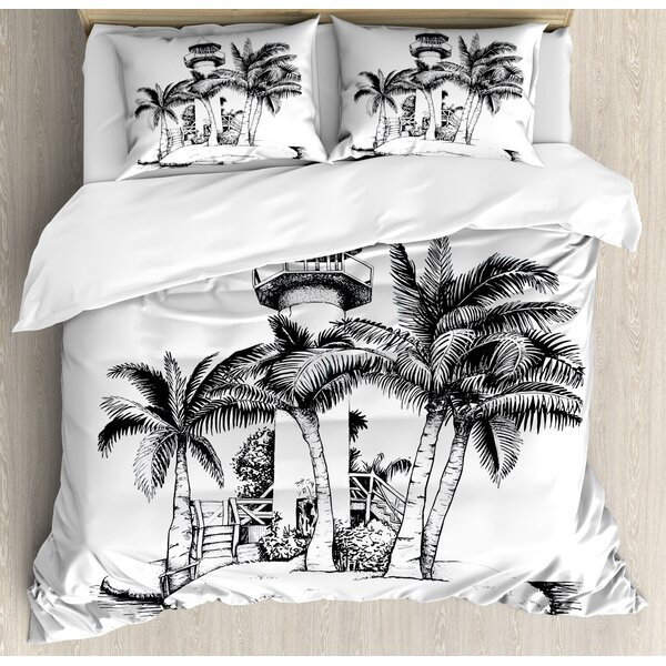 Tropical Duvet Cover Set by Ambesonne