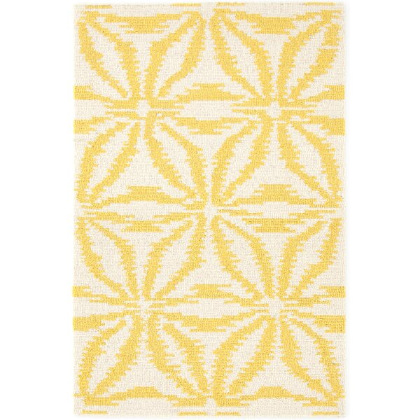 Aster Hooked Gold Area Rug by Dash and Albert Rugs