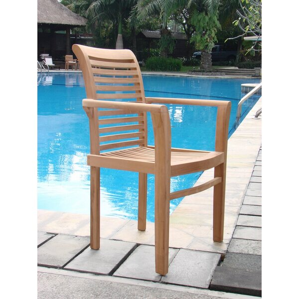 Mas Stacking Teak Patio Dining Chair by Teak Smith