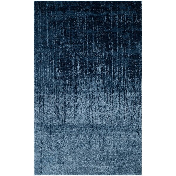 Tenth Avenue Light Blue / Blue Area Rug by Wrought Studio
