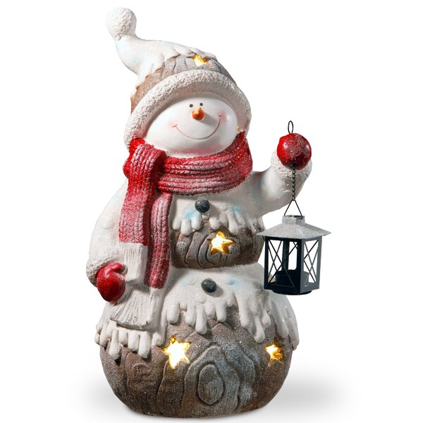 21 Lighted Snowman Décor Figurine by Red Barrel Studio
