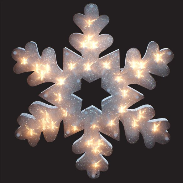 Glazed Snowflake Window Decoration by Penn Distributing
